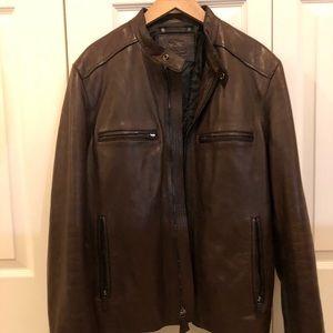 Brown Coach leather jacket MEN size medium
